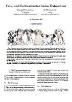 Fell- und Farbvarianten beim Dalmatiner